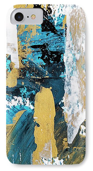 IPhone Case featuring the painting Teal Abstract by Christina Rollo