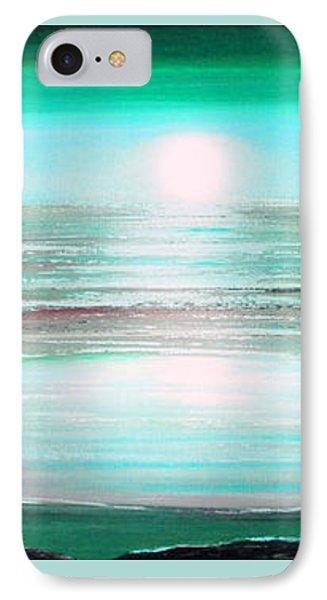 Teal Panoramic Sunset Phone Case by Gina De Gorna