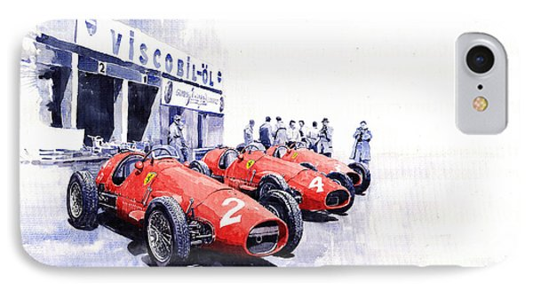 Team Ferrari 500 F2 1953 German Gp IPhone Case by Yuriy  Shevchuk