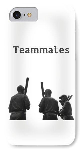 Teammates Poster - Boston Red Sox IPhone Case by Joann Vitali