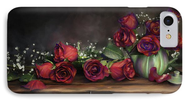 IPhone Case featuring the digital art Teapot Roses by Susan Kinney