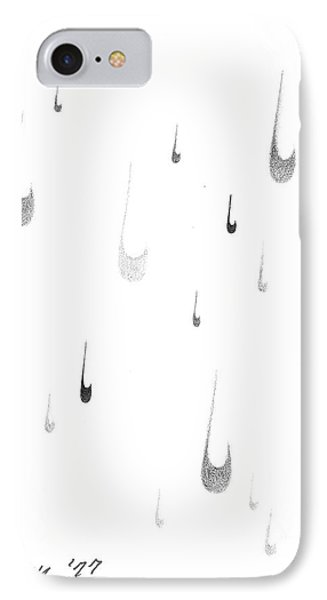 IPhone Case featuring the drawing Tear Drop Rain by Rod Ismay