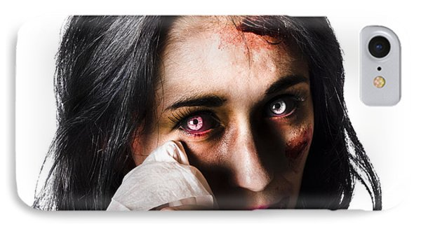 Tearful Woman With Injuries IPhone Case by Jorgo Photography - Wall Art Gallery