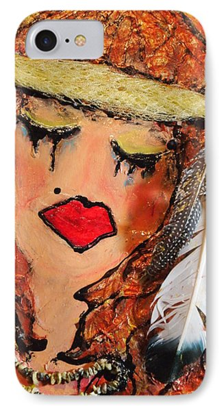 IPhone Case featuring the painting Tears Of Suffering by Laura  Grisham
