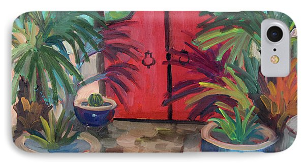 IPhone Case featuring the painting Tecate Garden Gate by Diane McClary