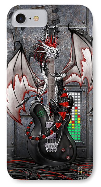 IPhone Case featuring the digital art Tech-n-dustrial Music Dragon by Stanley Morrison