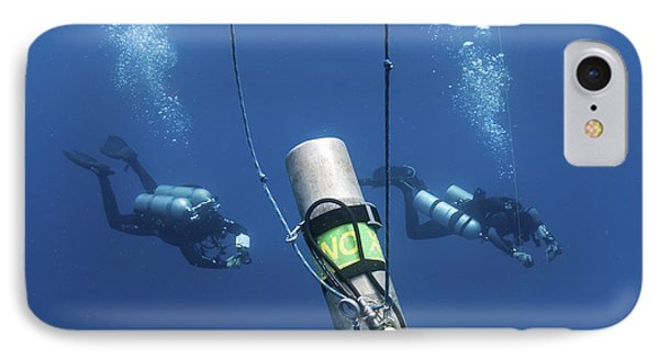 Technical Divers Ascend Near A Nitrox Phone Case by Karen Doody