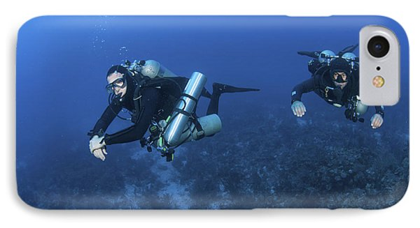 Technical Divers With Equipment Phone Case by Karen Doody