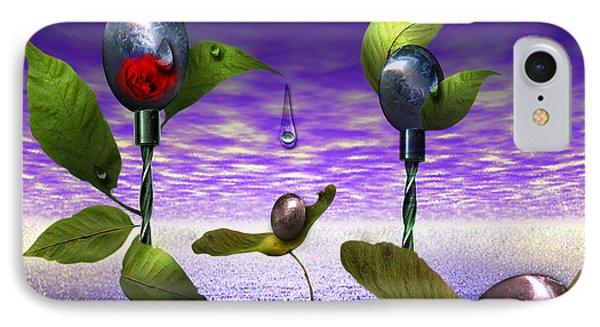 Techno Nature - Flower Drills Phone Case by Billie Jo Ellis