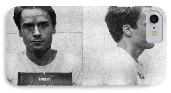 Ted Bundy Mug Shot 1975 Horizontal  IPhone Case by Tony Rubino
