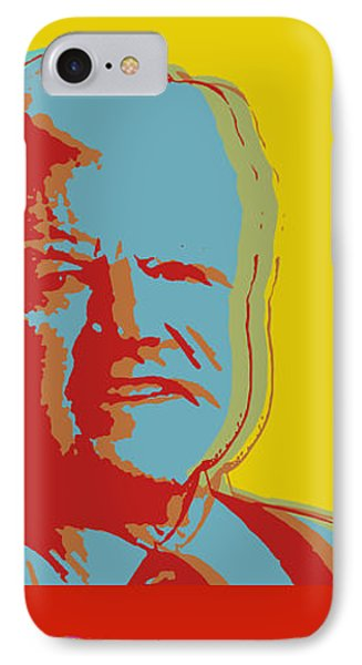 IPhone Case featuring the digital art Ted Kennedy by Jean luc Comperat