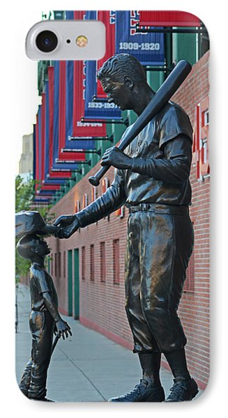 Ted Williams Statue Boston Ma Fenway Park IPhone Case by Toby McGuire