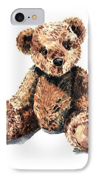 Teddy Bear Brown Bear Stuffed Animal Vintage Toy Steiff IPhone Case by Laura Row