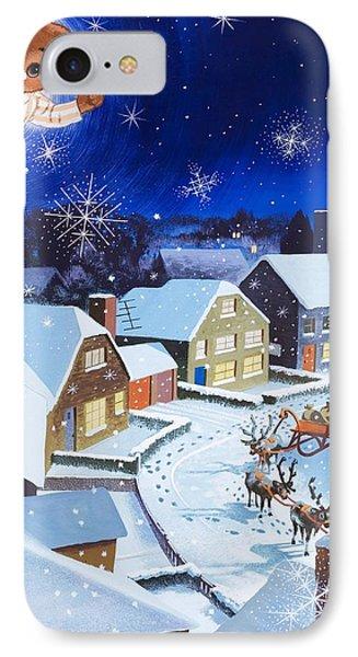 Teddy Bear Christmas Card IPhone Case by English School
