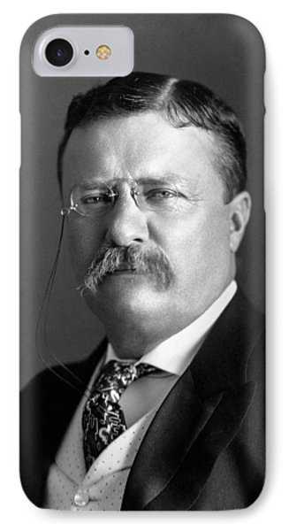 Teddy Roosevelt Portrait - 1904 IPhone Case by War Is Hell Store