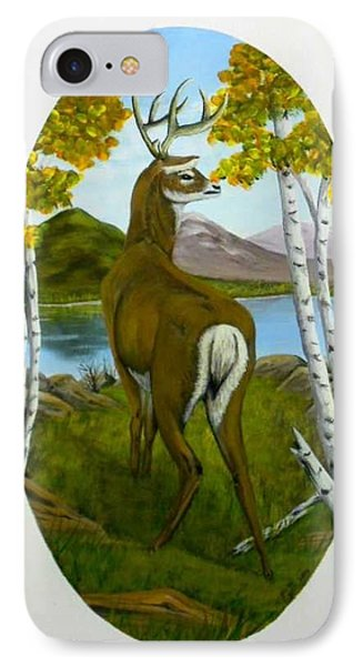IPhone Case featuring the painting Teddy's Deer by Sheri Keith