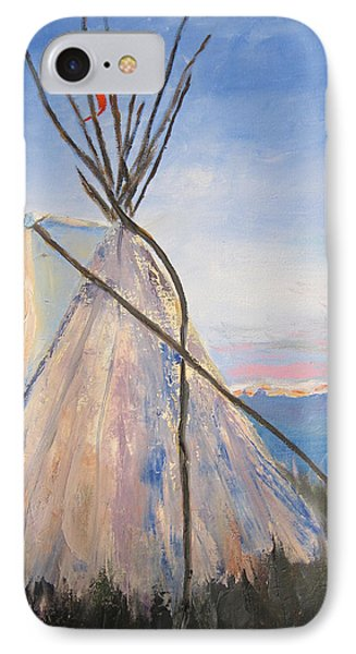 Teepee Dawn IPhone Case by Kathryn Barry