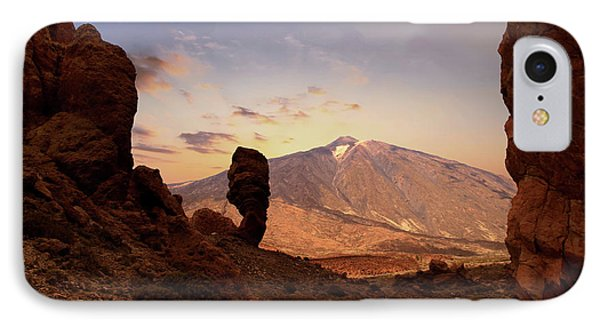 Canary iPhone 7 Case - Teide - Tenerife by Cambion Art