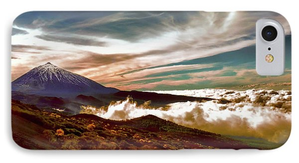 Teide Volcano - Rolling Sea Of Clouds At Sunset IPhone Case