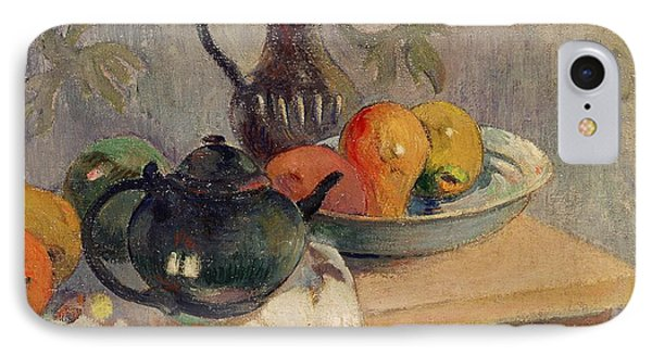 Teiera Brocca E Frutta IPhone Case by Paul Gauguin
