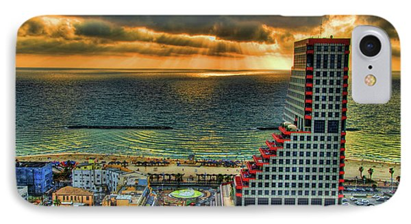 Tel Aviv Lego Phone Case by Ron Shoshani