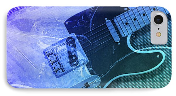 IPhone Case featuring the digital art Tele Blue by WB Johnston