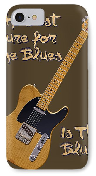 Tele Blues Cure IPhone Case by WB Johnston