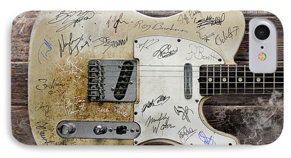 Telecaster Guitar Fantasy IPhone Case by Mal Bray
