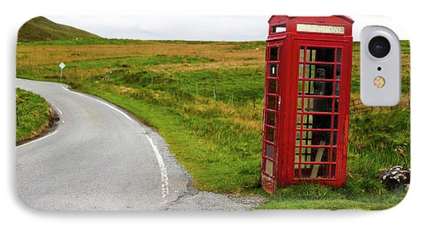 IPhone Case featuring the photograph Telephone Booth On Isle Of Skye by Davorin Mance