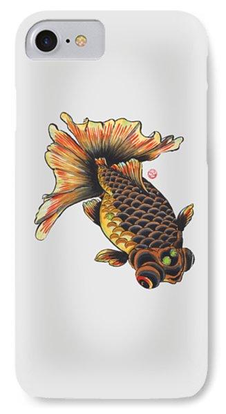 Telescope Goldfish IPhone Case by Shih Chang Yang