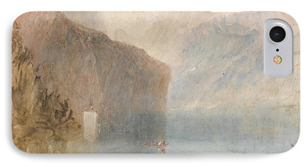 Tell's Chapel Lake Lucerne IPhone Case by Joseph Mallord William Turner