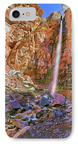 Telluride, Colorado's Cornet Falls - Colorful Colorado - Waterfall Phone Case by Jason Politte