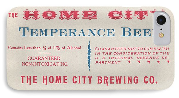IPhone Case featuring the photograph Temperance Beer Label by Tom Mc Nemar