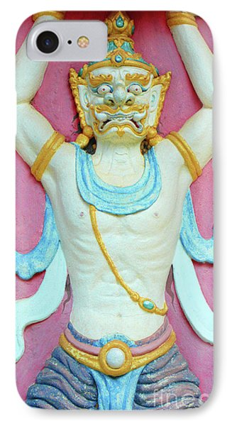 Temple Art In Thailand IPhone Case