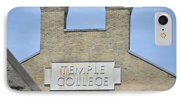 Temple College IPhone Case by Bill Cannon