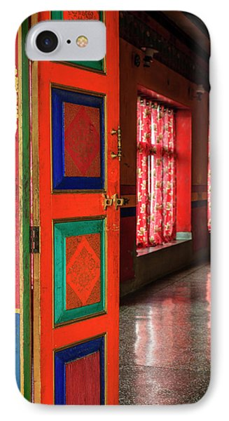 IPhone Case featuring the photograph Temple Door by Alexey Stiop