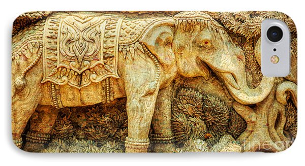 Temple Elephant IPhone Case by Adrian Evans
