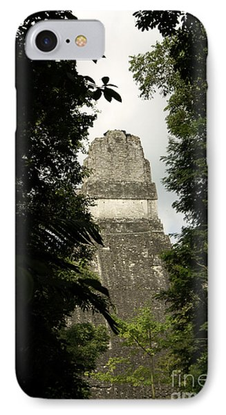 Temple In The Trees Tikal Guatemala IPhone Case by John  Mitchell