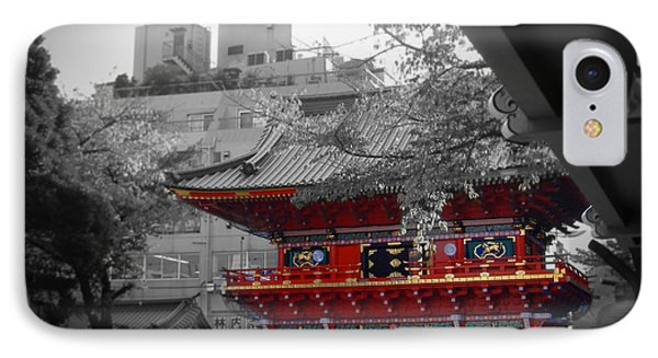 Temple In Tokyo IPhone Case by Naxart Studio
