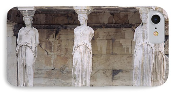 Temple Of Athena Nike Erectheum IPhone Case by Panoramic Images