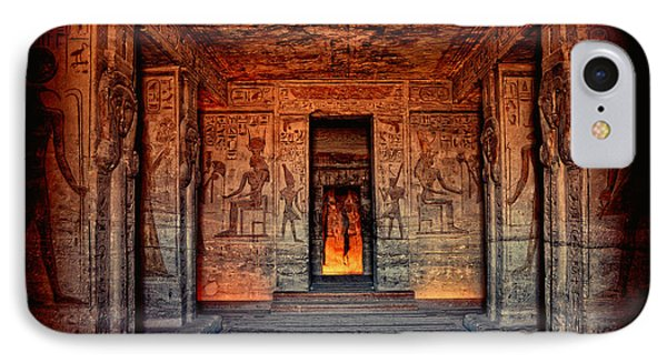 Temple Of Hathor And Nefertari Abu Simbel IPhone Case by Nigel Fletcher-Jones