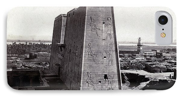 Temple Of Horus At Edfu, 1850s IPhone Case by Science Source