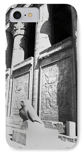 IPhone Case featuring the photograph Temple Of Horus by Silvia Bruno