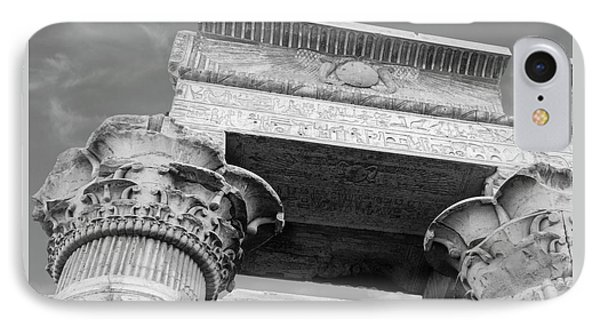 IPhone Case featuring the  Temple Of Kom Ombo by Silvia Bruno