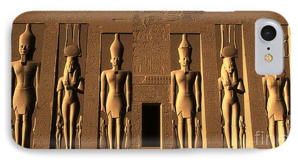 Temple Of Nefertari IPhone Case by Corey Ford