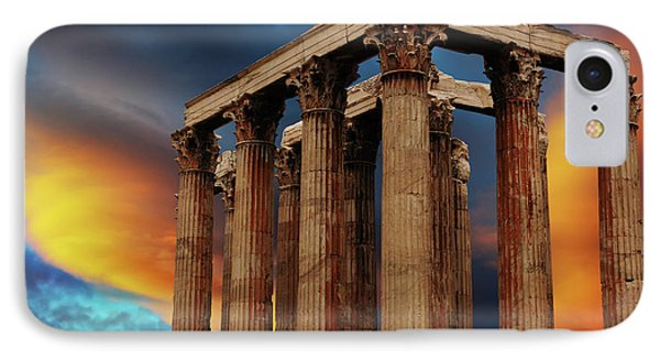 Temple Of Olympian Zeus Phone Case by Bob Christopher