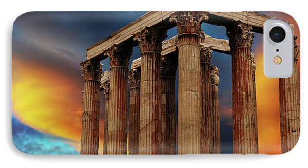 Temple Of Olympian Zeus IPhone Case by Bob Christopher