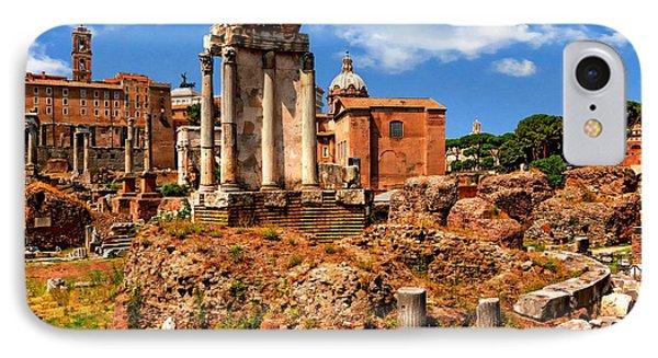 Temple Of Vesta IPhone Case by Anthony Dezenzio