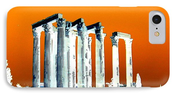 Temple Of Zeus, Athens IPhone Case by Karen J Shine