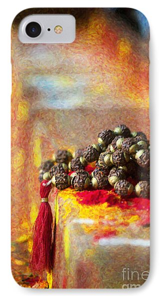 Temple Rudraksha Beads IPhone Case by Tim Gainey